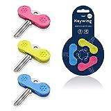 Keywing Dreierpackung. Ideale Schlüsseldrehhilfe. Schlüssel lassen sich leichter greifen, halten...