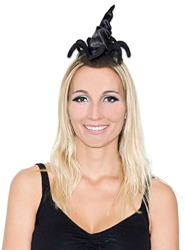 Mini Chapeau Sorciere Noir Avec Araignee