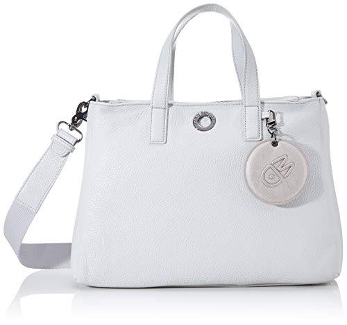 Mandarina Duck Mellow Leather Tracolla, Bolsa de mensajero para Mujer, Gris (Mist), 12x19x28 Centimeters (W x H x L)