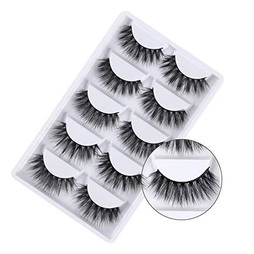 3D False Eyelashes, 3D Faux Mink Fake Eyelashes Handmade Dramatic Thick Crossed Cluster False...
