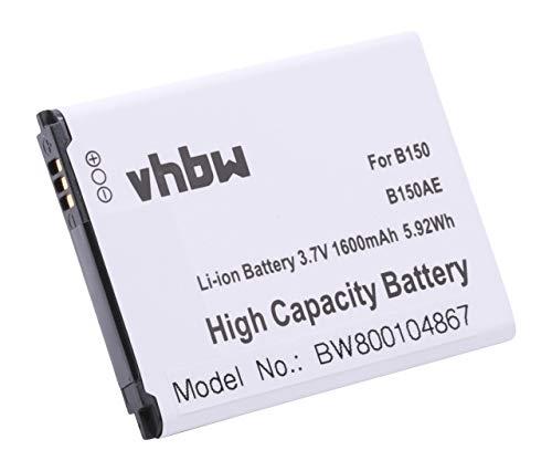 vhbw batería 1600mAh para Teléfono móvil Celular Smartphone Samsung Galaxy Core Galaxy Core Duos GT-I8260 GT-I8262 SM-G350 SM-G3500 por B150, B150AE.