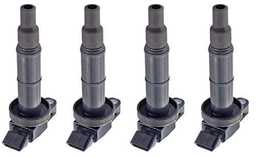 ENA Ignition Coils compatible with Toyota - Corolla Matrix MR2 Celica GT - Chevy Prizm L4 1.8L Engine 1ZZFE 9091902239 C1249 UF-247 UF-315 Pack of 4