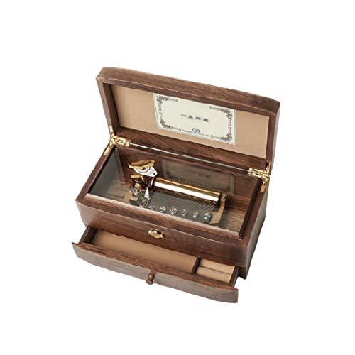 LTCTL Caja de música de 50 Tonos 8 Minutos de joyería de Madera Caja de música con cajón niños y Amigas (Music : Ca-Non)