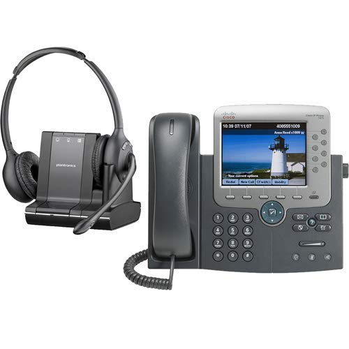 Plantronics -Over-The-Head monaural Wireless Headset System CS510 Cisco Unified IP Phone 7975G Combo