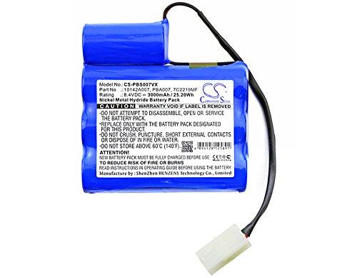 CS-PBS007VX Akku 3000mAh Kompatibel mit [MTC] 3937 MEGATECH, [Pool Blaster] MAX, Swimming Pool Ersetzt 10142A007, 7C2219MF, PBA007