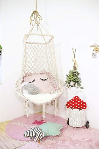 XXCC Creatieve Indoor Lounge Chair tuinmeubelen katoenen touw tuinstoel handgemaakte kinderschommel nestschommel voor binnen en buiten