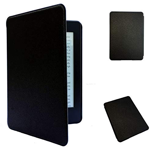 Kindle Paperwhite 4 (New, 2018) Case - Amazon Kindle 10th Generation - Auto Wake/Sleep, Thinnest and Lightest PU Leather (only fits Kindle Paperwhite 2018 Version) (Black)
