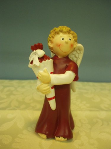 Gilde Schutzengel Engel mit Schultüte Schulanfang bordorot