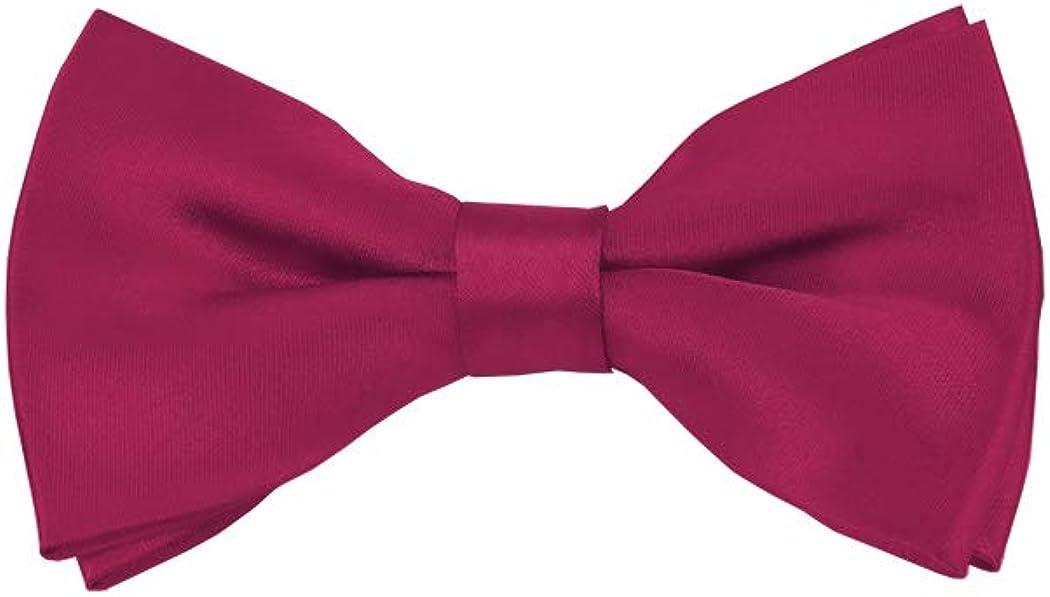 Solid Raspberry Men's Pre-Tied Bow Tie