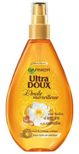 Garnier Ultra Doux Huile Merveilleuse aux Huiles d'Argan et Camélia tous type de cheveux - 150 ml