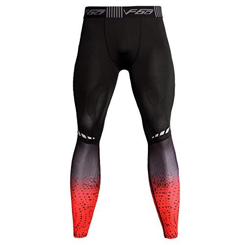 DHDHWL Herren Leggings Hohem Stretchanteil,Dry Fit Laufhose Herren Funktionshose Sportbekleidung Für Herren Gym Leggings Fitness Leggins...