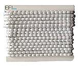 Efitex® Bleiband 70g - 2,5 m Karte, EU Norm Zertifiziert Bleikordel für Gardinen und Vorhänge