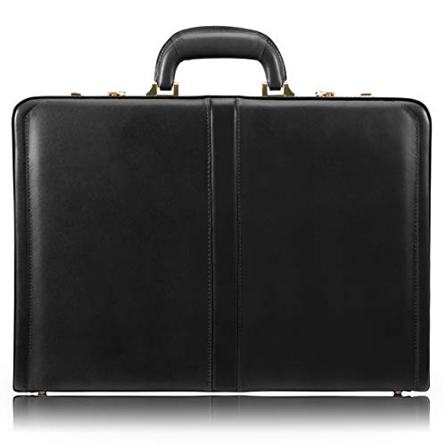 McKleinUSA V Series, Reagan, Top Grain Cowhide Leather, Leather 3.5' Attaché Briefcase, Black (80445), One Size