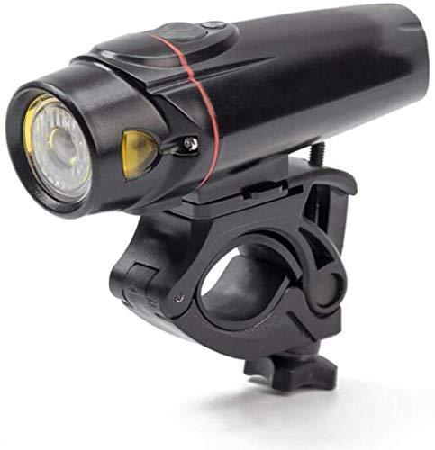 ewrwrwr Fahrradlicht USB Front Fahrradlicht 350 Lumen Intelligente Induktion Deutsche Vorschriften Fahrradaufladung Scheinwerfer Mountain Lights FL2381-Schwarz