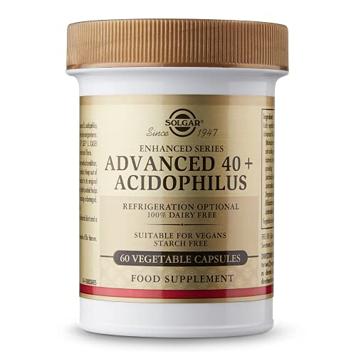 Solgar® 40+ Acidophilus Avanzado para una flora intestinal equilibrada - 60 cápsulas vegetales