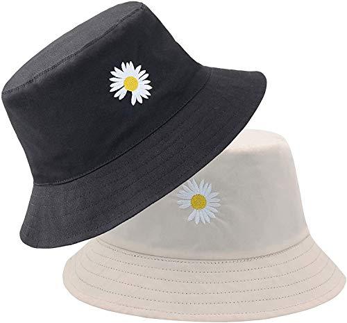 LEIDAI Niedlicher Eimer Hut Strand Fischerhüte für Frauen, Reversible Doppelseitenabnutzung