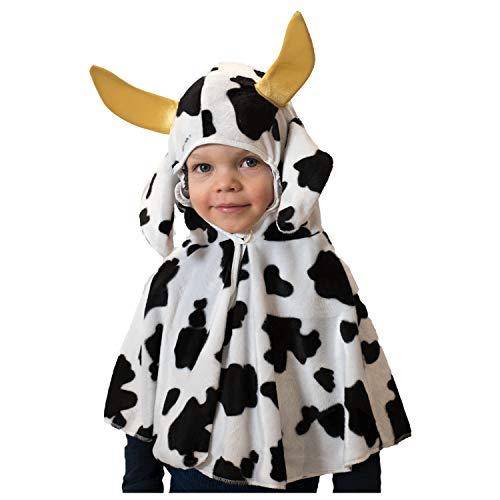 Disfraz infantil de vaca o dálmata, capa con capucha, talla 92, 98...