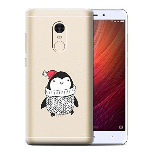 Stuff4® hoes/case voor Xiaomi Redmi Note 4/wollige trui patroon/zoete Doodle Pinguin collectie