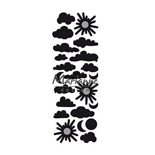 Metall Cutting Die 8 x 14 x 0.4 cm Black Marianne Design Craftables Stanzform Seem/ännisch Tau 60x26mm