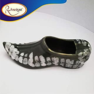 Handcrafted Shoe Shaped Porcelain(Chinni mitti) Ashtray for Cigarette/Gifts/Home Decor/Office Accessories/Desk Utility