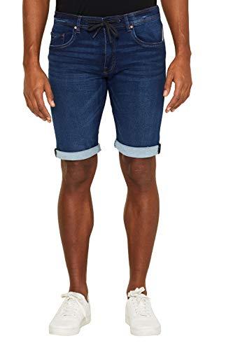 edc by Esprit 039cc2c010 Pantalones Cortos, Azul (Blue Dark Wash 901), Talla única (Talla del Fabricante: 30) para Hombre