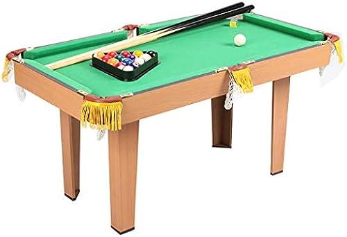 LiPengTaoShop Tischbillard Billardtisch Kinderheim Mini Puzzle Holzkugel Tisch Spielzeug Größe Kinder Geburtstagsgeschenk Billard (Farbe   Grün, Größe   93  52  47cm)