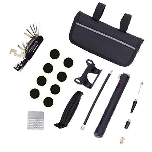 Reparación de bicicletas kit de herramienta multi de la función con herramientas de la bicicleta bolsa de herramientas portátil Mini bomba de bicicleta de montaña o bicicleta de carretera Cycling