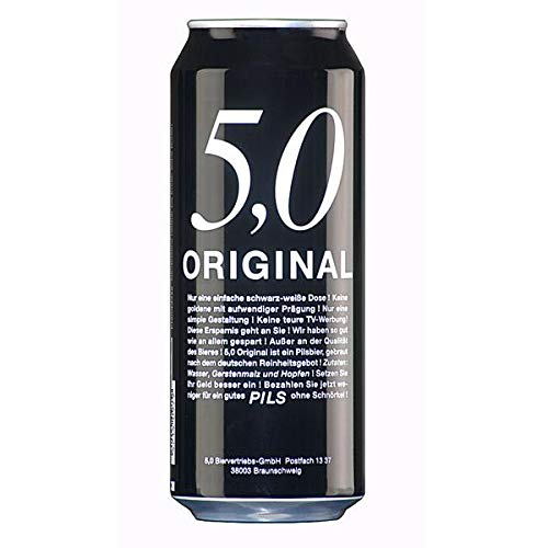 5.0 Original Pils 24x0,5L latas 5% Vol cerveza enlatada barata