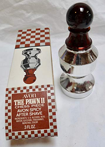 Avon The Pawn II Chess Piece Avon Spicy After Shave 3 FL OZ 1970s -  Avon Chess