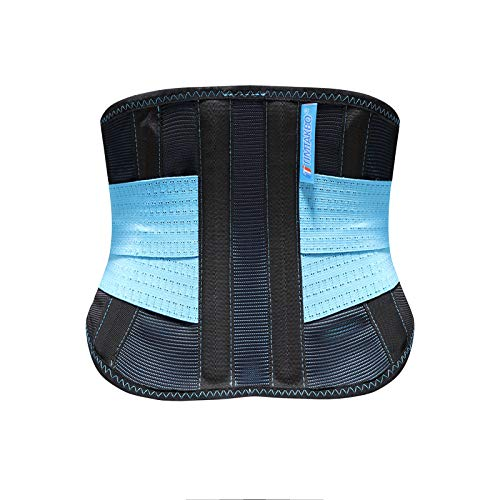 2.0 Version Lower Back Brace for Pain Relief, Back Brace for Lifting at Work, Scoliosis Pain Relief Brace for Herniated Disc and Sciatica, Adjustable Back Support Waist Belt for Men and Women 2XL Suit 37.5