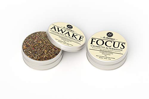 2X Herbal Smoke Mix (Awake & Focus) 100% Nicotine Free, Can Be Smoked, Vape, Or Smoked in Pipes 10g Organic Herbs. (2X Awake Sweet & Focus Hard)