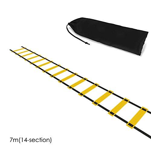 Josopa 5m/7m/10m opvouwbare behendigheid snelheid training ladder met opbergtas voetbal sport Fitness Tool