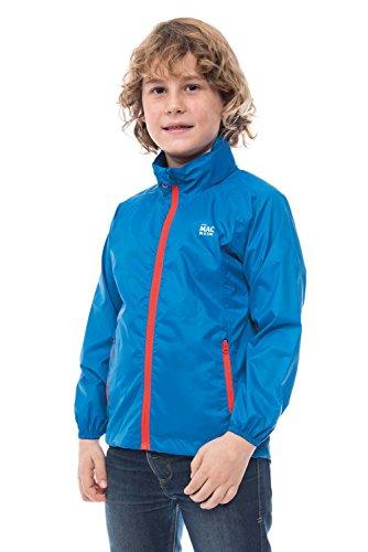 Mac in a Sac MINI Herkunft Unisex wasserdicht Packaway Jacket (Electric Blue, 8-10 Years)