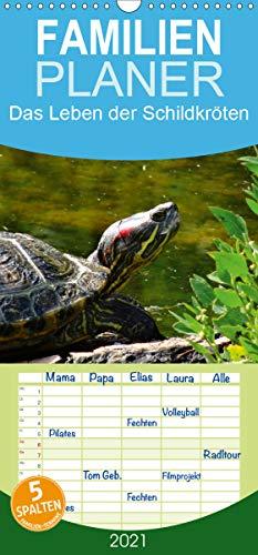 Das Leben der Schildkröten - Familienplaner hoch (Wandkalender 2021, 21 cm x 45 cm, hoch)