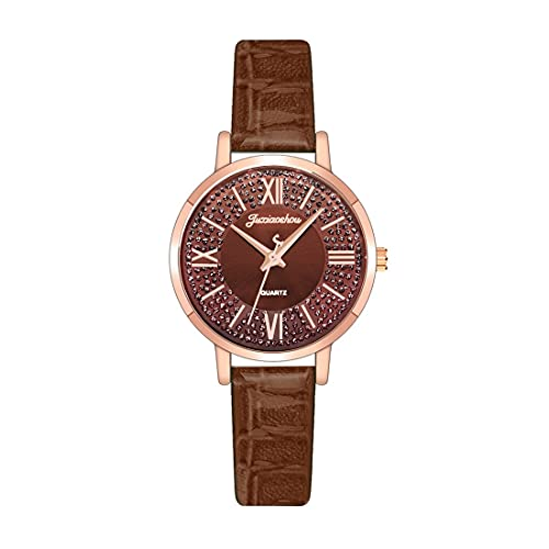CXJC Reloj Deportivo de aleación + Cuero. Reloj de Cuarzo de Dial Dial Dial Dial Dial. 10 Colores Disponibles (Color : J)