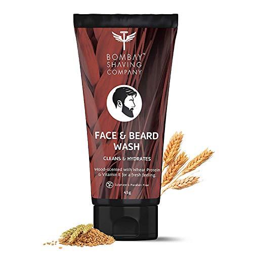 Bombay Shaving Company Face & Beard Wash with Wheat Protein & Vitamin E | Made in India