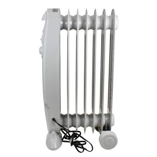 Comfort Zone CZ7007J Oil-Filled Electric Radiator Heater with 3 Heat Settings and Silent Operation Heater Oil Space