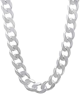 Sterling 925 Silver Necklace Chain for men - 21 Inches, 10mm