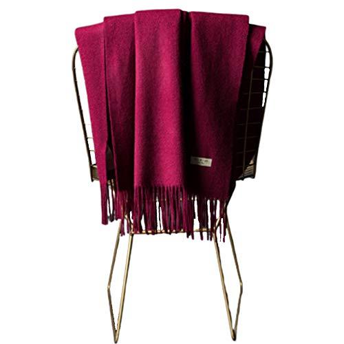 TIANPIN mode Unisex sjaal/sjaal wol kasjmier franje lange winter herfst sjaal koud weer zachte wol Pashmina Stole Super zachte grote sjaals wraps
