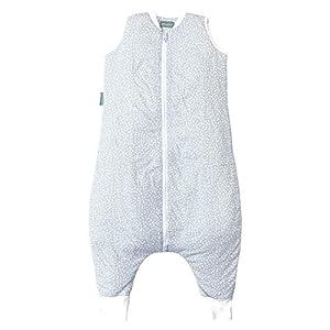 molis&co. Saco de Dormir con pies. 2.5 TOG. Talla 2 años. Ideal para Entretiempo e Invierno. Suave y cálido. Grey Print…
