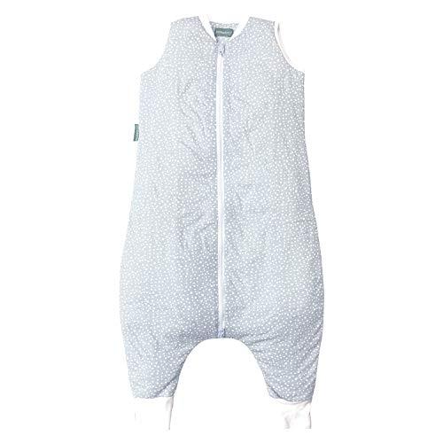 molis&co. Saco de Dormir con pies 100% algodón orgánico. Acolchado. Talla 4 años. Ideal para Entretiempo e Invierno. 2.5 TOG. Suave y cálido. Grey Print.