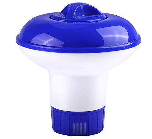 Dispensador flotante de pastillas de cloro, para piscina o spa (5 pulgadas)