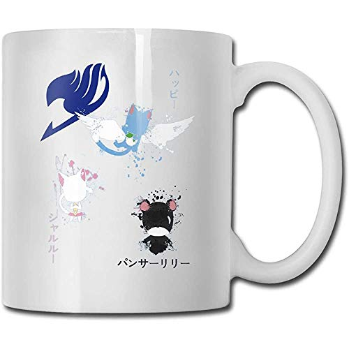 Fairy Tail Happy Carla Panther Lily Novedad Taza de cerámica Taza de café con leche