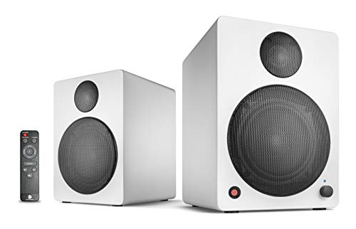 wavemaster CUBE NEO white - Regallautsprecher-System (50 Watt) mit Bluetooth-Streaming, Digitalanschluss und IR-Fernbedienung, Aktiv-Boxen, Nutzung für TV/Tablet/Smartphone, weiß (66381)