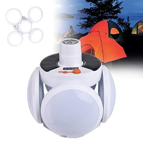 JAKROO Linterna de Camping Recargable - Luz Exterior Plegable, Luz Solar para Camping de fútbol - Senderismo Camping Emergencia al Aire Libre