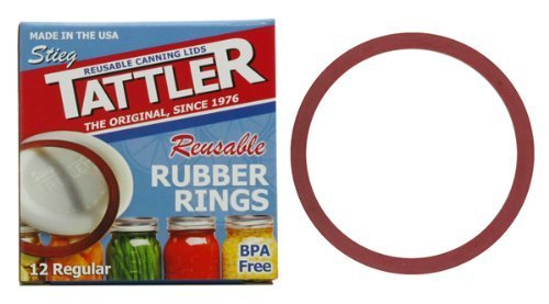 Tattler Reusable Regular Canning Rubber Seal Rings only, BPA Free, Dishwasher Safe (Pack of 12)