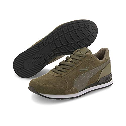 PUMA Unisex-Erwachsene St Runner V2 Sd Sneaker, Burnt Olive Forest Night, 39 EU