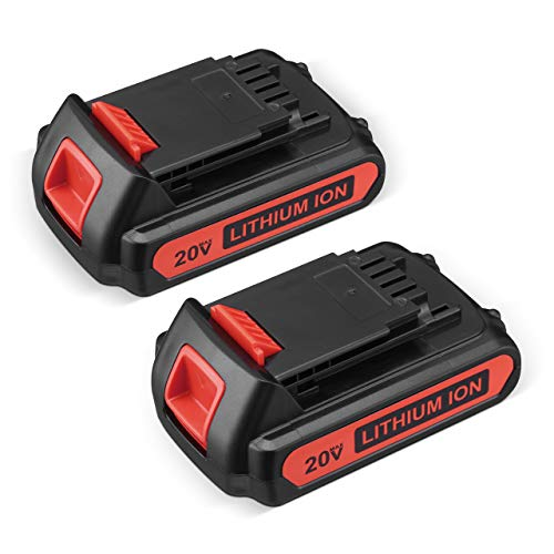 20V 2.5Ah Replacement Battery Compatible for Black and Decker 20v Max LBXR20 LB20 LBX20 LBX4020 Extended Run Time Cordless Power Tools Series 2Pack