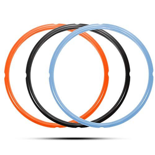 Silicone Sealing Ring for 8 Qt, Replacement Seal Gasket for Instant Pot 8 Quart Model, Food-grade Silicone, Fits Duo 8 Quart, Lux 8 Quart, Duo Plus 8 Quart, Ultra 8 Quart, Viva 8 Quart, 3-Pack
