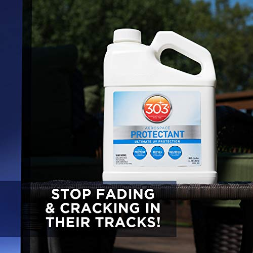 303 UV Protectant Spray - Ultimate UV Protection - Helps Prevent Fading And Cracking - Repels Dust, Lint, and Staining - Restores Lost Color And Luster, 1 Gallon (30320)
